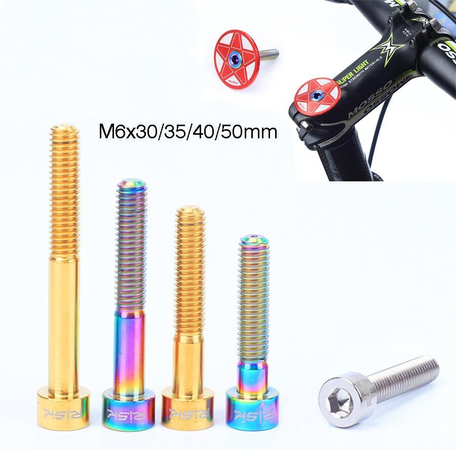 Bike Components & Parts 1pcs M6 Titanium Alloy Bike Headset Bolt MTB
