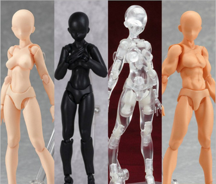 Figma Archetype He She PVC Action Figure Human Body Joints Male Female Nude Movable Action Figure toys Birthday Gifts with box