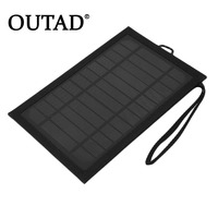 Portable 6W 5V 1A 180 360mm Solar Folding Bag Solar Charger For Outdoor Camping Hiking Travelling