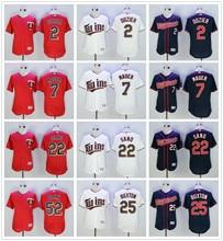 ba68ccd03 MLB Minnesota Twins Brian Dozier Joe Mauer Miguel Sano Byung-ho Park Byron  Buxton jerseys