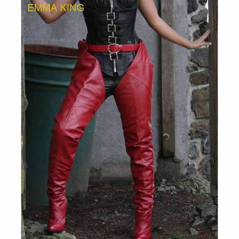 Модные женские сапоги до бедра с ремешком Rihanna Chap Женские Сапоги выше колена с острым носком на высоком каблуке Женская обувь 2020