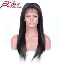 wicca fashion 150 Density Full Lace Human Hair Wigs With Baby Hair Silky Straight Brazilian Remy Hair Wigs For Black Women