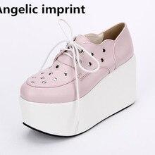 3e59c405007 Angelic imprint woman mori girl lolita cosplay punk shoes lady high heels  pumps women princess dress