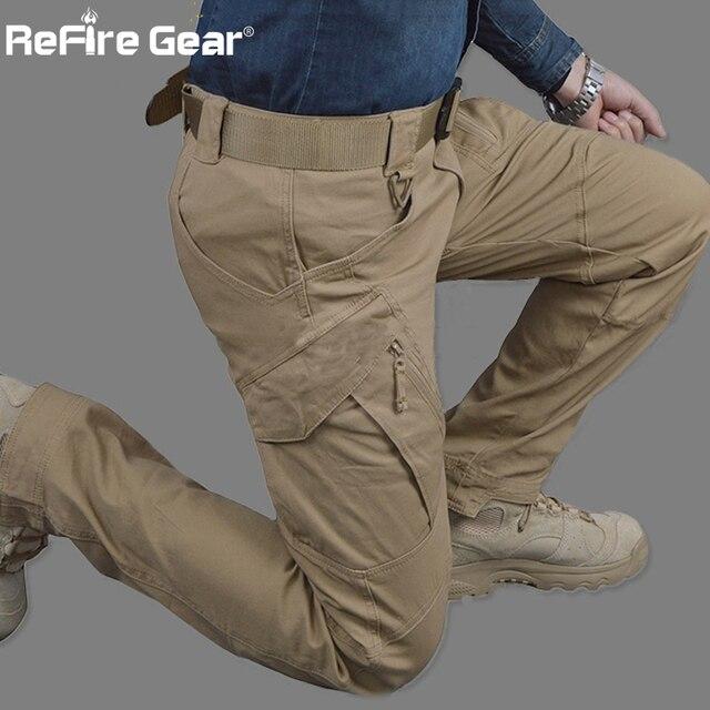 IX9 City Tactical Cargo Pants Men Combat SWAT Army Military Pants Cotton Many Pockets Stretch Flexible Man Casual Trousers XXXL 3