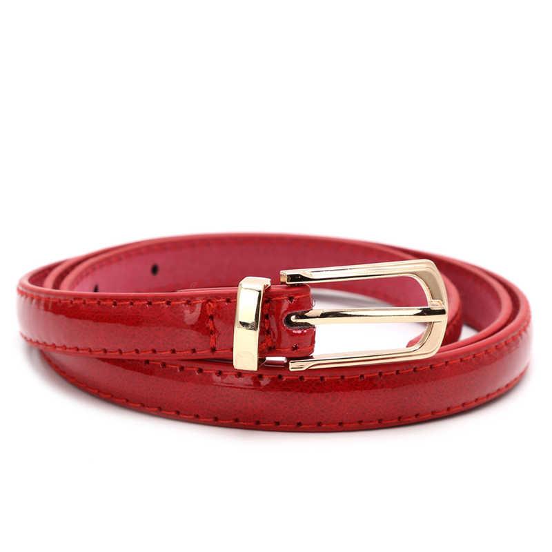 Карамельный цвет металлическая пряжка Тонкий Повседневный ремень для женщин, женский кожаный пояс Ремни Пояс для одежды аксессуары