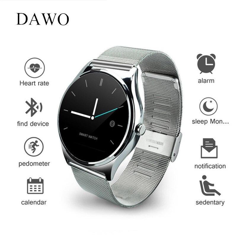 Dawo SmartWatch монитор сердечного ритма сна трекер дистанционного управления 9.8 мм экран <font><b>Bluetooth</b></font> Смарт часы для <font><b>IOS</b></font> Android PK K88h GW01