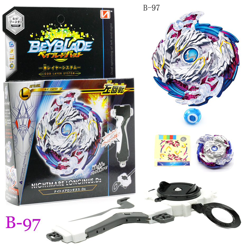 TOP Beyblade Burst B96 102 103 97 With Launcher Kids Boys Funny Toy Starter Zeno Excalibur .M.I (Xeno Xcalibur .M.I) Bables Toys