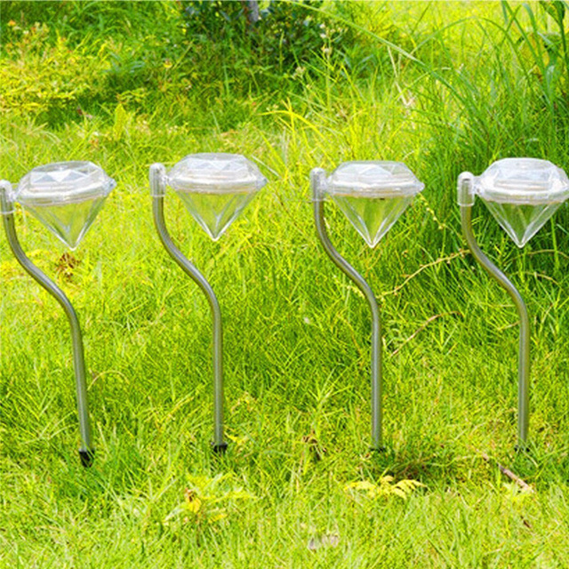 4pcs Diamond Shape Solar Power Lamps