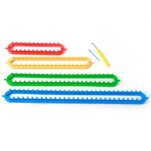 Boye Largo Telar telares de tejer juego de 4 tamaño/4 color con ...