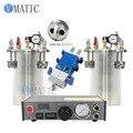 Free Shipping Fedex Express Automatic Glue Dispensing Machine + 2 Pcs 2L Pressure Tank + Dual Valve Big Flow