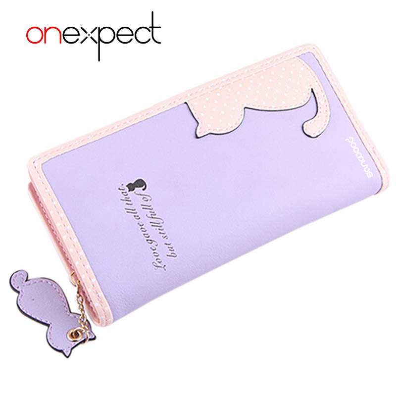 onexpect Fashion Small Wallet Women Short Brand Cute Female Purse PU Leather Cat Design Girls Lady Zipper Wallets Card Holder fashion small wallet women short luxury brand cute female purse pu leather cat design girls lady zipper wallets card holder bags