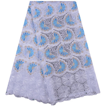 African Dry Lace Fabrics High Quality Cotton Dry Lace Fabric Swiss Voile With Stones Swiss Voile Lace In Switzerland A1296