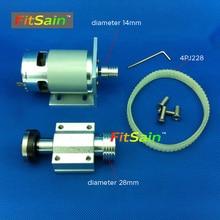 FitSain-Mini pilarka stołowa dla brzeszczot 16mm/20mm piły Do Cięcia wrzeciona Maszyny Koło Pasowe Wspornik Ball mając 775 24 V 8000 RPM chainsaw