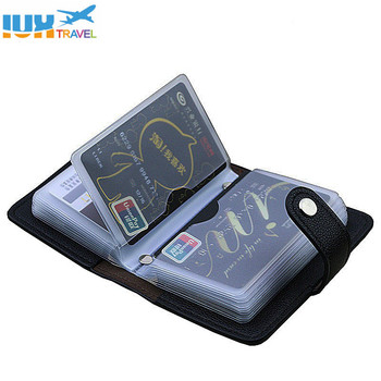 Fashion PU Leather Function 24 Bits Card Case Business Holder Men Women Credit Passport Bag ID Passport Card Wallet Dropshiping Makeup Bags & Cases