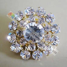 10pcs 27mm Round crystal rhinestone button Diamante centerpieces Gold  Silver Set for DIY wedding hair decoration horse browband 8f6626c7e840