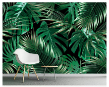 beibehang European personality silky tapety wall paper simple tropical plants banana leaves background paintings 3d wallpaper
