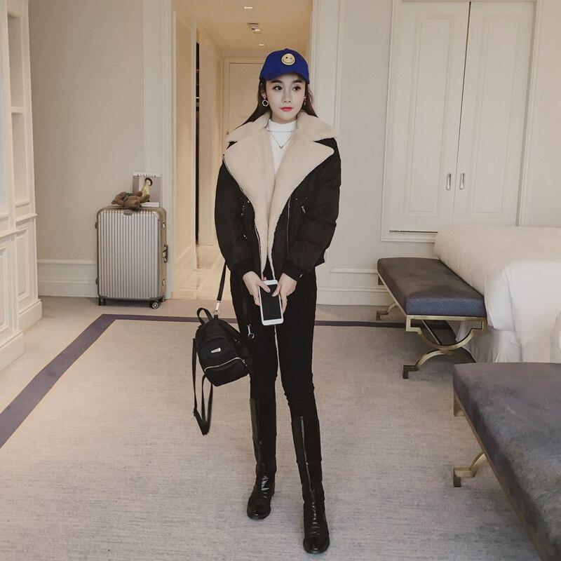 Vestiti Modo Chaqueta Parka Delle Lwl819 Coreano Di Cappotto Collare Cotone Signore Champagne Mujer Inverno Donne Spessore 2019 Del black Tcyeek Rivestimento Velluto PTwxfq