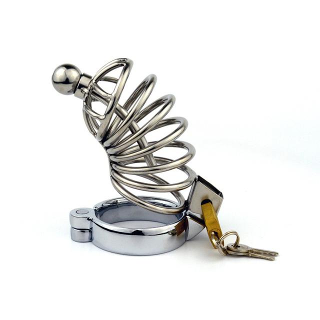 Aço macho Metal dispositivo de castidade caralho gaiola anel peniano penis bloqueio masculino castidade cinto adultos produtos do sexo para homens pênis