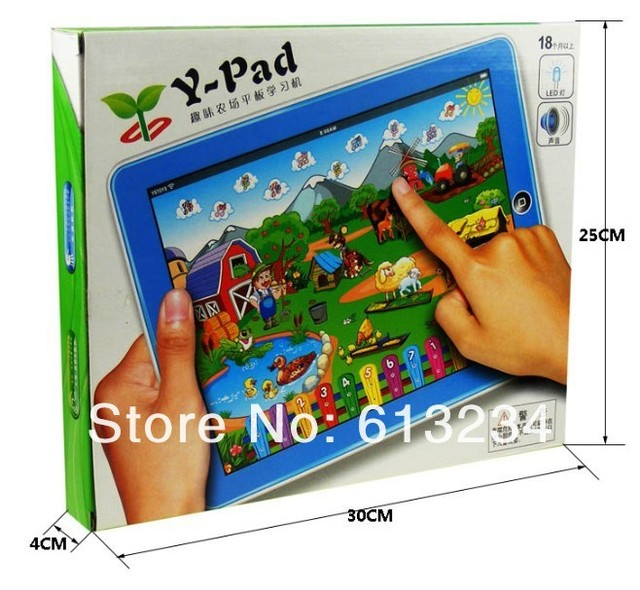 Free shipping Y-pad Farm-in-a-Tablet Table Farm Learning Machine 19cm*24cm (English Computer for Kids)