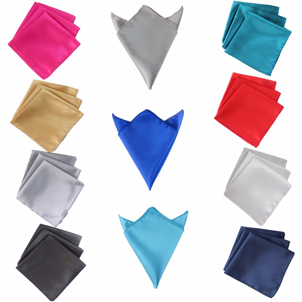 50pcs Wedding Table Napkins 30*30cm Square Satin Fabric Napkin Pocket Handkerchief for Wedding Decoration Event Party Supplies