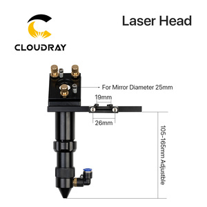 C Series: Cloudray CO2 Laser Head for Focus Lens Dia.20 FL.50.8 / 63.5mm & Mirror 25mm Mount for Laser Engraving Cutting Machine(China)