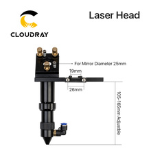 C Series Cloudray CO2 Laser Head for Focus Lens Dia 20 FL 50 8 63 5mm amp Mirror 25mm Mount for Laser Engraving Cutting Machine cheap Laser Head 50 8mm 63 5mm 50 8 101 6mm 63 5 101 6mm 20mm