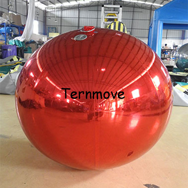 reflective inflatable mirror balloon for hanging decoration Party Wedding Event Decoration Reflective Inflatable pvc Mirror Ball 100pcs lot 12inch gold high quality printed snowflake latex balloon air balls inflatable wedding party decoration float balloons