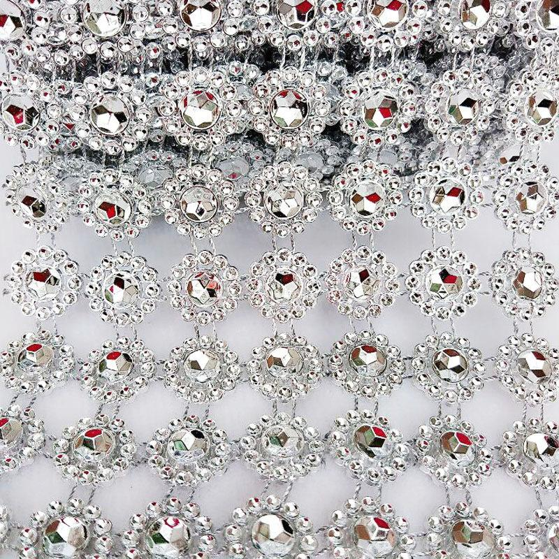 2 yard 15mm strass chaîne coudre sur colle vêtements couture garniture bricolage accessoires de beauté perle cristal chaînes de mariage décoration de gâteau