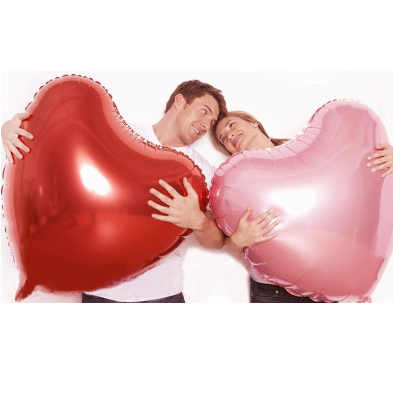 Wedding decoration large red heart foil balloons wedding party supplies casamento Propose valentine's day giant helium ballons