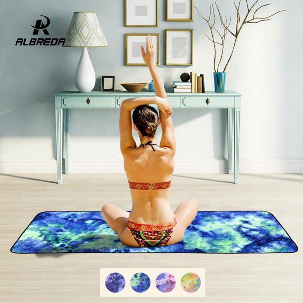 Travel Yoga Mat Or Towel: ALBREDA Yoga Towel 183*65 Breathable Non Slip Portable