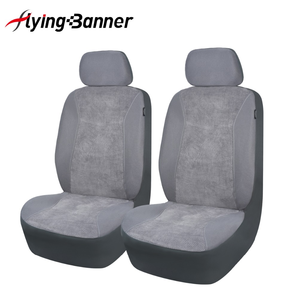 HIGH QUALITY ELEGANT JACQUARD LAND ROVER DISCOVERY GREY FRONT CAR SEAT COVERS