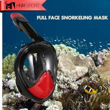 2017 Nouveau Plongée GoPro Caméra Tuba Masque Ensemble Sous-Marine Anti Brouillard Full Face Snorkeling Mergulho Formation De Natation Plongée Masque