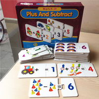 Baby Toys Counting Mathematics learning cards paper jigsaw puzzles for children brain games toys kids early educational toy