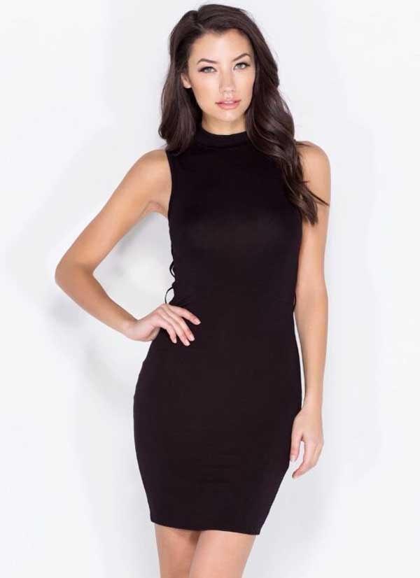 b72710861 Venta al por mayor nuevo vestido negro backless Delgado estiramiento de  moda ocio cóctel partido vendaje vestido (H0995)
