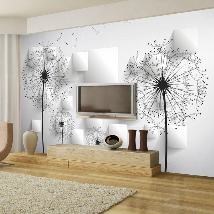 Aliexpress Com Buy Elegant Dandelion Wallpaper 3d Photo Wallpaper Natural Scenery Wall Mural Art Room Decor Club Bedroom Tv Background Wall Paper From
