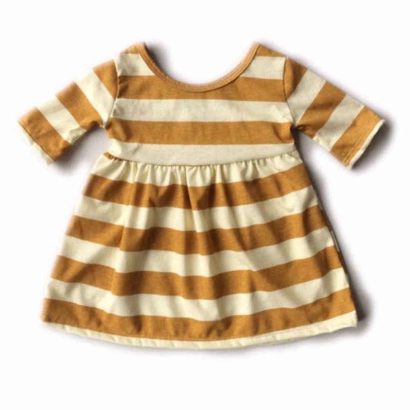 הקיץ בייבי בנות פעוטה dress ילדים פסים כותנה ללבוש את בגדי שמלות רחוב קלאסי