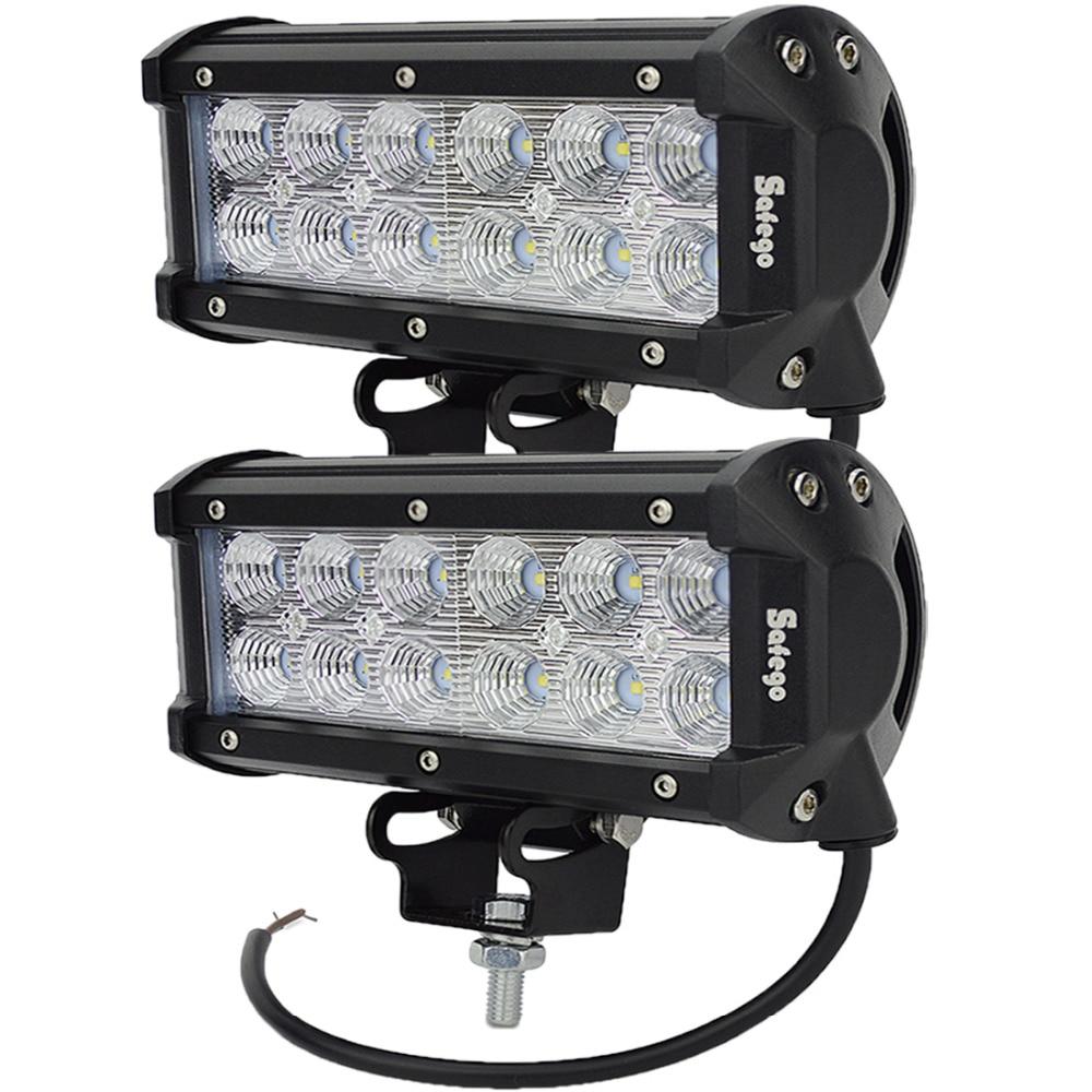 Safego 2 шт. 7 &#8221;36 Вт светодиодные панели места луч потока для Лодка внедорожник <font><b>Off</b></font> <font><b>Road</b></font> ATV 4X4 грузовик 4WD индикатор работы дальнего света светодиодны&#8230;