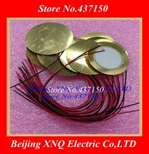 100 pièces/lot, 35mm élément piézo électrique en céramique avec longueur de câble 15cm livraison gratuite piézoélectrique piézo électrique en céramique