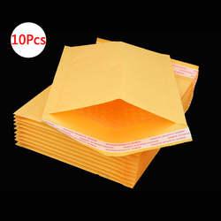 DELVTCH 10 шт рассылки сумки окна конверты мешок влагостойкий высокого качества, самодельная Бумага печать желтый стационарных бумажные