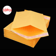 Buy DELVTCH 10Pcs Mailing Bags Window Envelopes Bag Moistureproof High Quality Kraft Paper Seal Yellow Stationary Paper Envelopes directly from merchant!