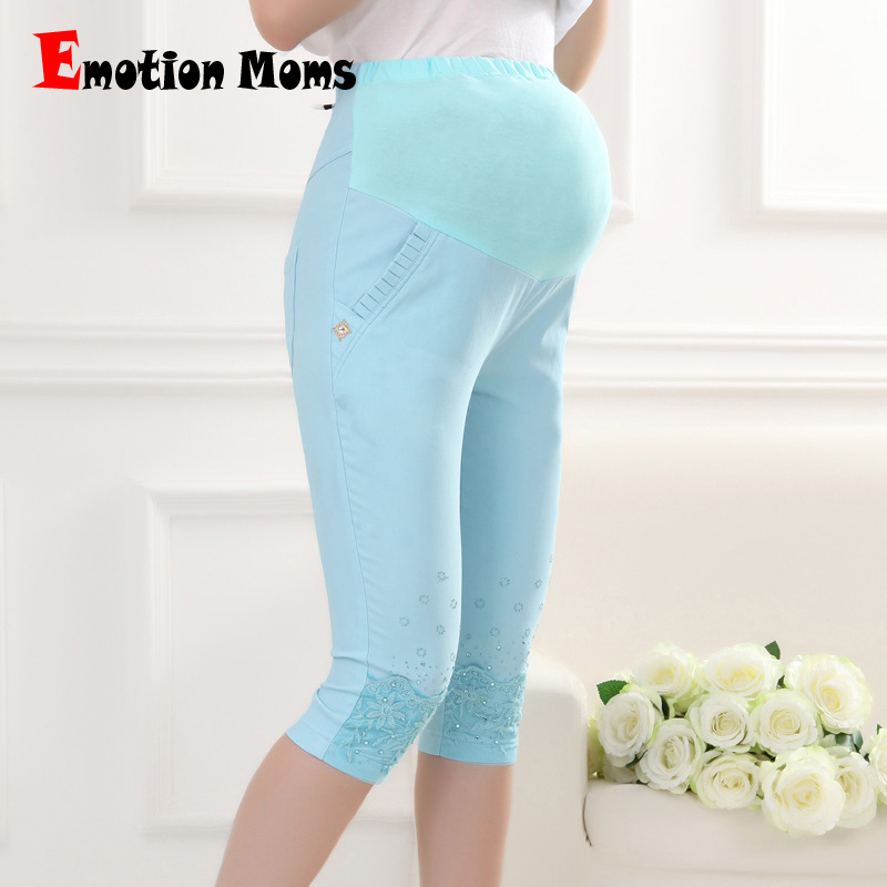 Emotion Moms Fashion Maternity Pants summer Maternity Trousers High waisted breastfeeding Trousers for pregnant women Capris