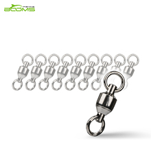Booms Fishing BB2 Ball Bearing Fishing Rolling Swivel With Double Welded Rings Copper Alloy Connector 10/20Pcs