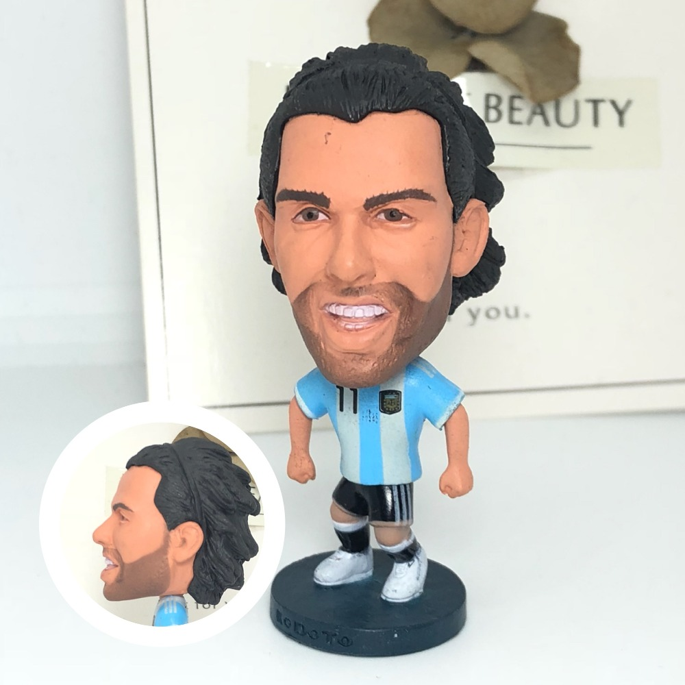 Dolls Figurine Movable-Joints Soccerwe Football-Stars Tevez Model-Toy Collectible Resin