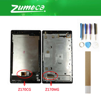 7.0'' For Asus ZenPad C 7.0 Z170MG Z170CG P01Y P01Z Asus Z170 LCD Display+Touch Screen Panel With Frame Black Color+Tape&Tool
