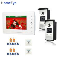 7'' Video Door Phone Video Intercom Home Access Control System 5-Wired Indoor Monitor+1200TVL Call Camera+RFID Card+Exit Switch