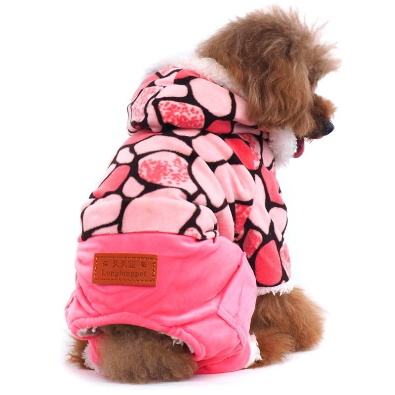 Radient Cappotti Per Cani Pet Autunno Inverno Ispessito Rosa Grigio Opzionale Cotone Felpe Per La Ragazza Ragazzo Cucciolo Eppure Non Volgare
