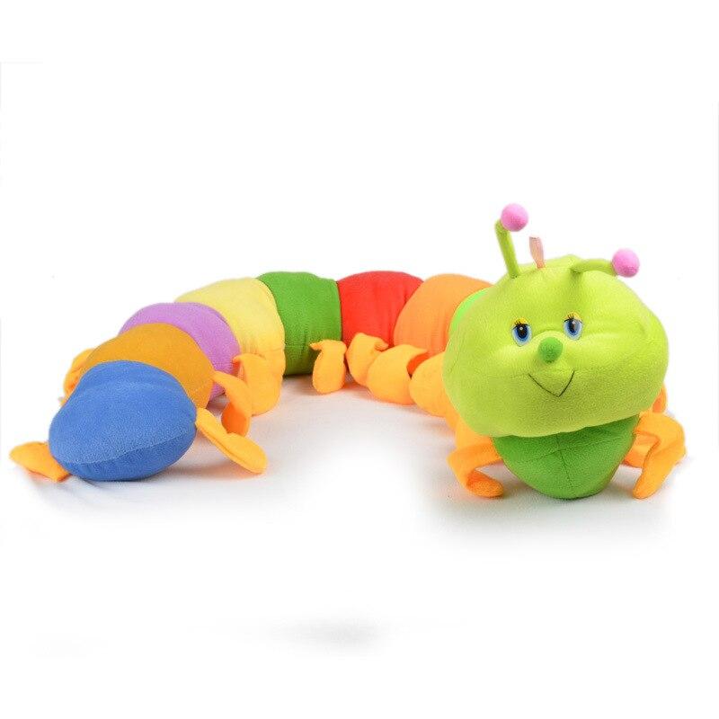 Valentine New Hot Popular Colorful Inchworm Soft Lovely Juguetes de Desarrollo Para Caterpillar Sostener Juguetes de Almohada