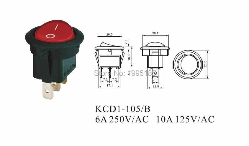 [SCHEMATICS_48ZD]  1Pcs Red Light 3 pin Terminals Universal LED illuminated Car Button Lights  ON/OFF Round Rocker Switch Dash Boat Van|on/off rocker switch|lighted rocker  switcheslight button switch - AliExpress | Led Switch 250vac Wiring Diagram |  | AliExpress