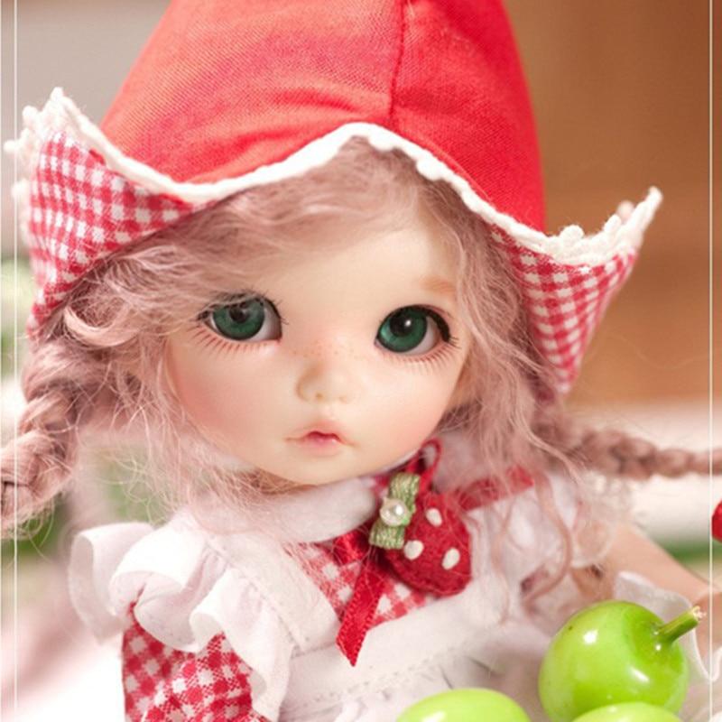 bjd/sd Dolls Fairyland pukifee ante 1/8 bjd sd doll model reborn baby girls boys dolls eyes High Quality 1 3 1 4 1 6 1 8 1 12 bjd wigs fashion light gray fur wig bjd sd short wig for diy dollfie