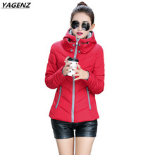 Heat Sell Winter Thick Cotton Jacket New Hooded Short Down Cotton Clothing Female Casual Tops Plus Size Women Basic Coats YAGENZ
